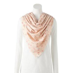 lc lauren conrad cherry print scarf